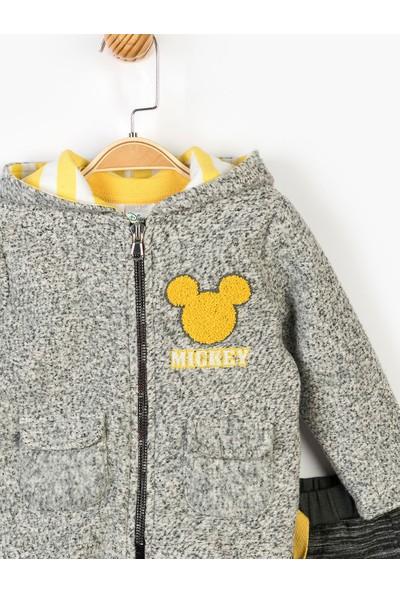 Mickey Mouse Disney Bebek Kapüşonlu 3'lü Takım 14711
