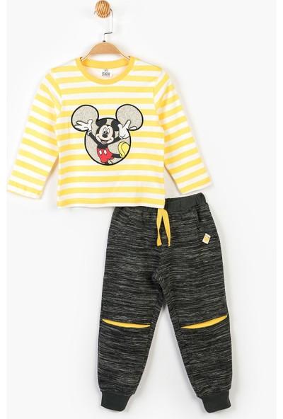 Mickey Mouse Disney Çocuk Kapüşonlu 3'lü Takım 14716