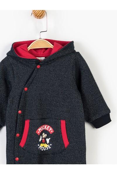 Mickey Mouse Disney Kapüşonlu Patiksiz Tulum 14724