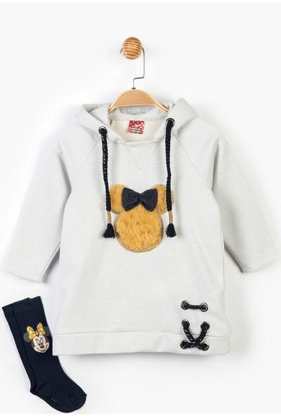 Minnie Mouse Disney Kapüşpnlu Elbise ve Çorap 14622