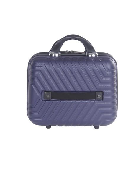 Arı Rznoble Unisex Makyaj Çantası El Valizi Lacivert 1466