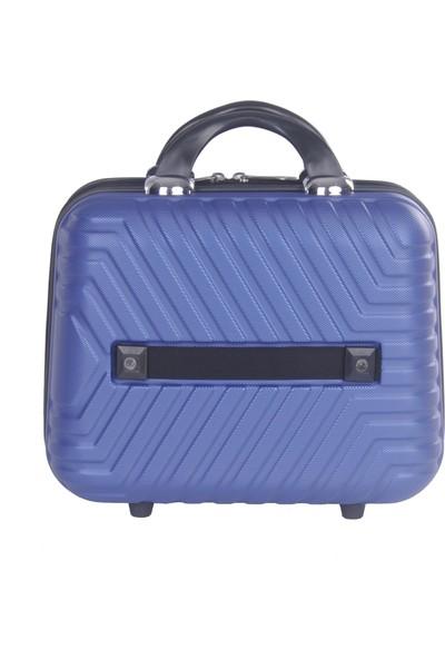 Arı Rznoble Unisex Makyaj Çantası El Valizi Mavi 1466