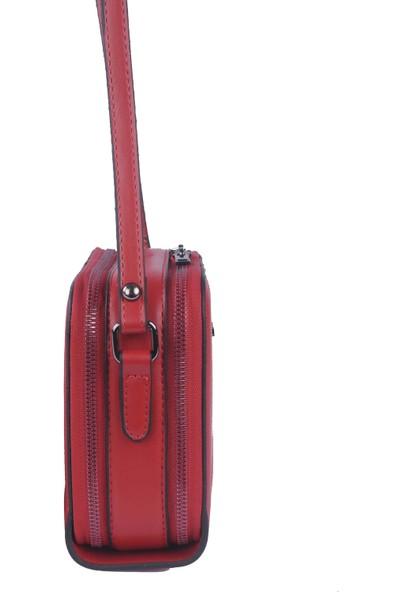 Grande Just Polo Kadın Çapraz Askılı Çanta Kırmızı 1948