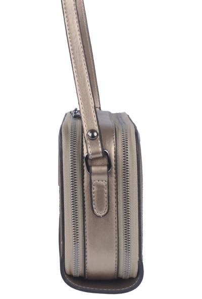 Grande Just Polo Kadın Çapraz Askılı Çanta Platin 1948
