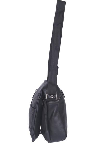 Arı Arpelle Çapraz Askılı Deri Erkek Çanta Siyah 332