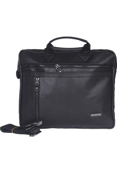 Rz Noble A.D.M Erkek Evrak Çanta Laptop Bölmeli Siyah Tr450