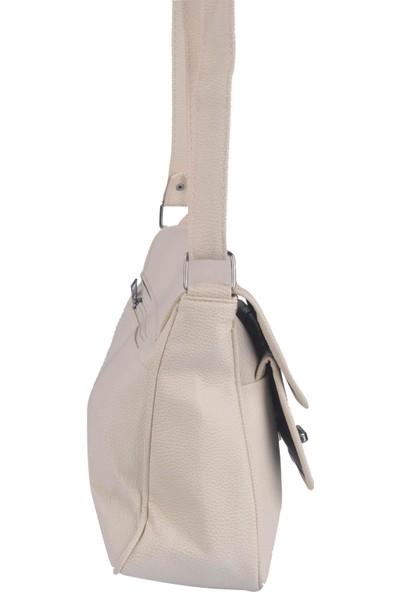 Grande Noble Kadın Çapraz Askılı Çanta Bej 600