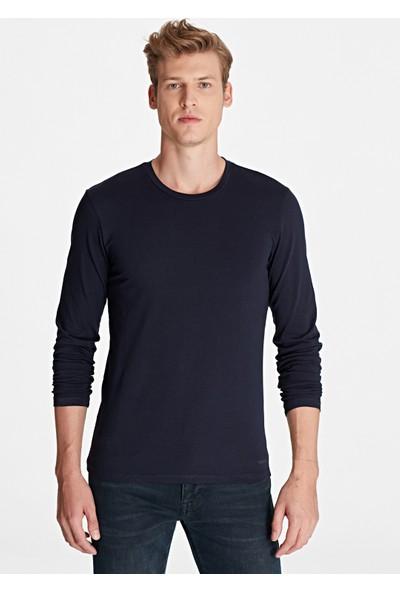 Mavi Erkek Uzun Kollu Lacivert Basic Tişört 062477-27308