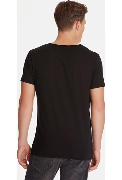 Mavi Siyah Basic Tişört 064019-20933