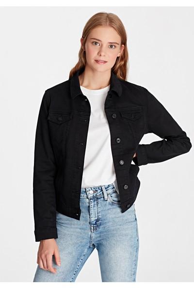 Mavi Daisy Siyah Jean Ceket