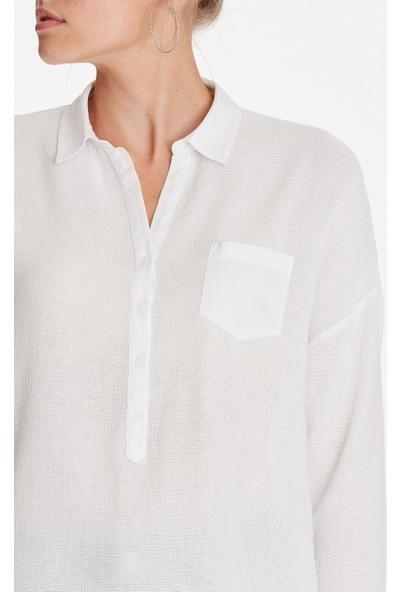 Cepli Beyaz Bluz 120567-20814