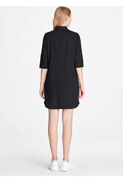 Bree Vintage Siyah Jean Elbise 130420-27321