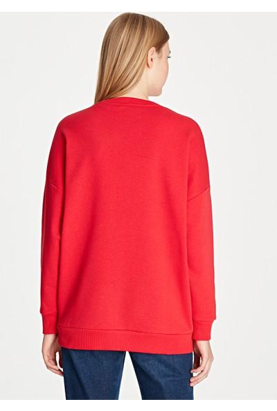 Flinstones Baskılı Kırmızı Sweatshirt 168374-29723