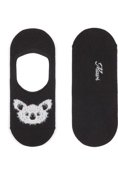 Koala Siyah Babet Çorabı 195721-900