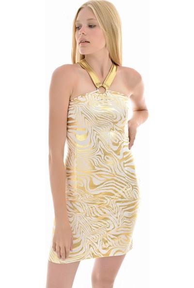Sense Kadın Altın Sırtı Ve Ön Halkalı Askılı Elbise Elb31571