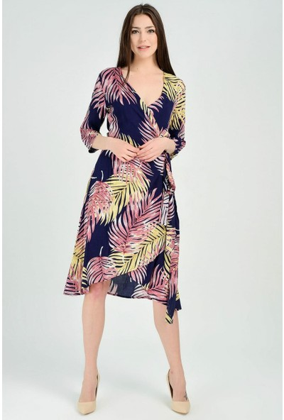 Sense Kadın Çicekli Elbise Elb31656