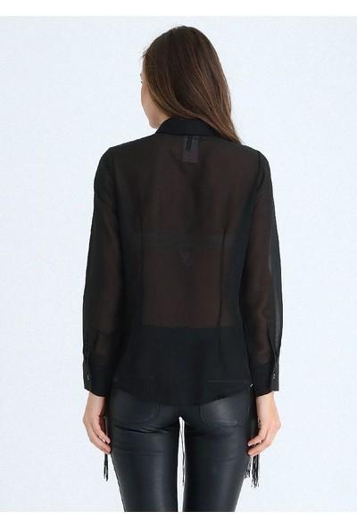 Sense Kadın Siyah Gömlek Gmlk14283