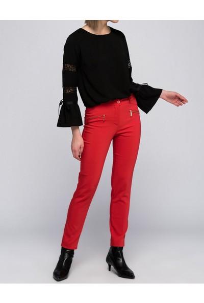 Sense Kadın Kırmızı Kalem Pantolon Pnt19007