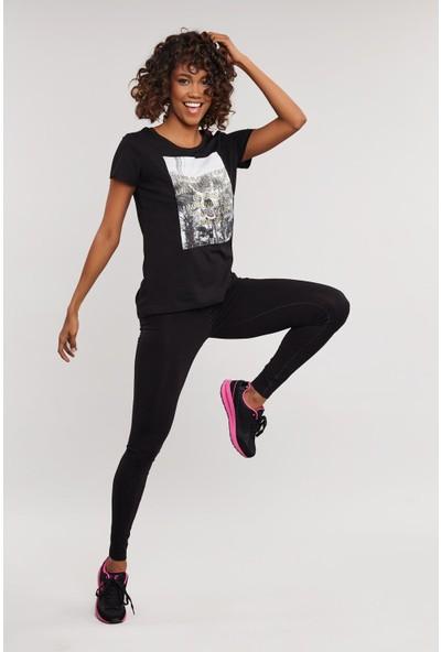 Bilcee Kadın Pamuklu T-Shirt Es- 3597