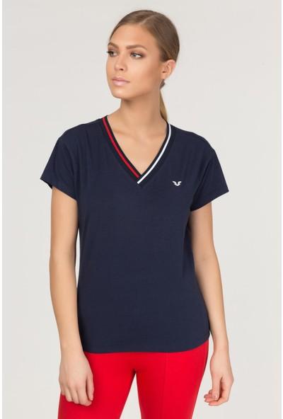 Bilcee Kadın Sırt Detaylı T-Shirt Fs-1120