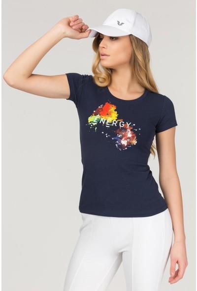 Bilcee Kadın Likralı Pamuklu T-Shirt Fs-1140