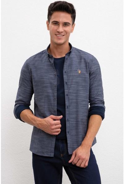 U.S. Polo Assn. Erkek Dokuma Gömlek 50207870-Vr033