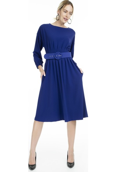 Via Dante Kemerli Midi Elbise Kadın Elbise 1033575Vd