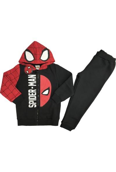 Marvel Spiderman Kapüşonlu Erkek Çocuk Eşofman Takım