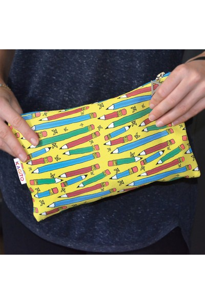 Kagito Pencil Clutch Çanta