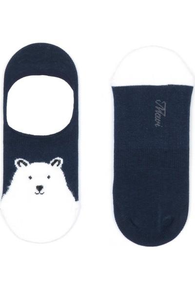 Ayı Desenli Babet Çorabı 197033-29722