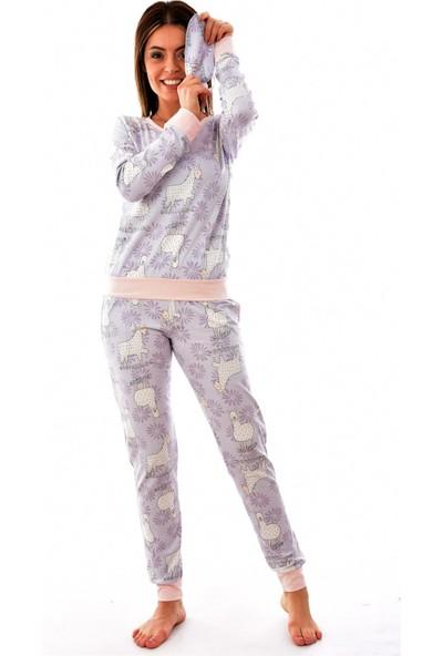 Arcan Paça Ribanalı Göz Bantlı Pijama Takımı