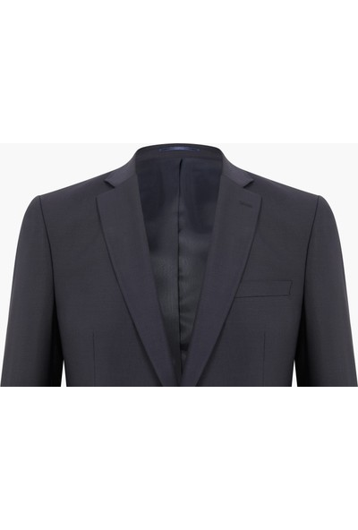 Hateko Erkek Klasik Kesim 4 Drop Koyu Lacivert %43 Yün Blazer Ceket