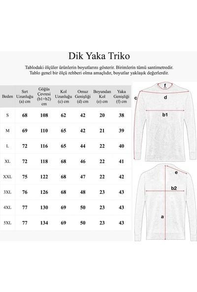 Hateko Gri Klasik Kesim Erkek Dik Yaka Kazak