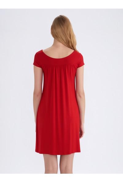 Ayyıldız 59333 Kırmızı Penye Elbise