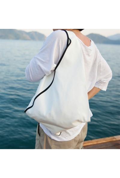 Beebag Omuz ve Sırt Çantası Beyaz İnce - El İşi Çantalar