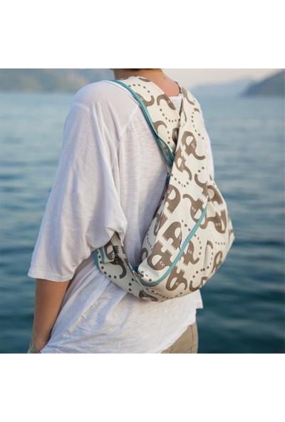 Beebag Omuz ve Sırt Çantası Fil Desenli - El İşi Çantalar