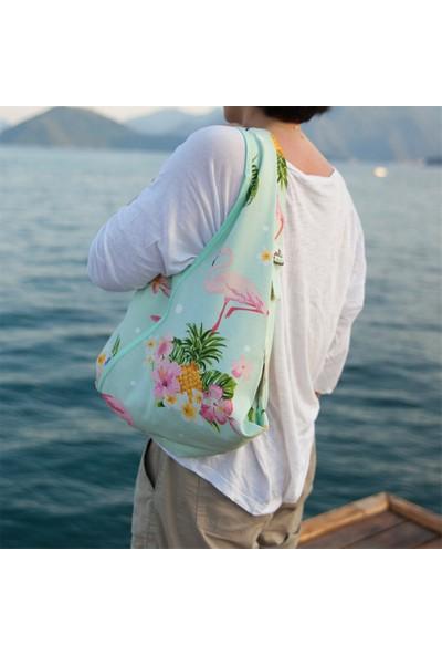Beebag Omuz ve Sırt Çantası Flamingo Desenli - El İşi Çantalar