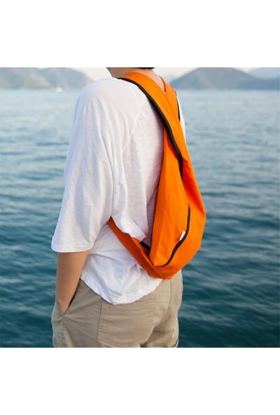 Beebag Omuz ve Sırt Çantası Turuncu İnce - El İşi Çantalar
