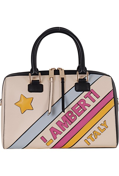 Lamberti 7151 Kadın Suni Deri El & Omuz Çantası Bej Sarı