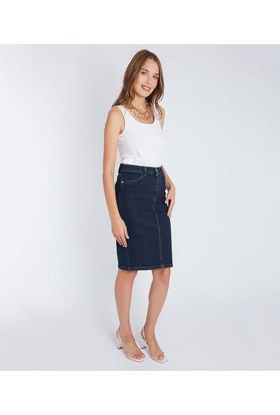 Home Store Kadın Jean Etek 19501092442