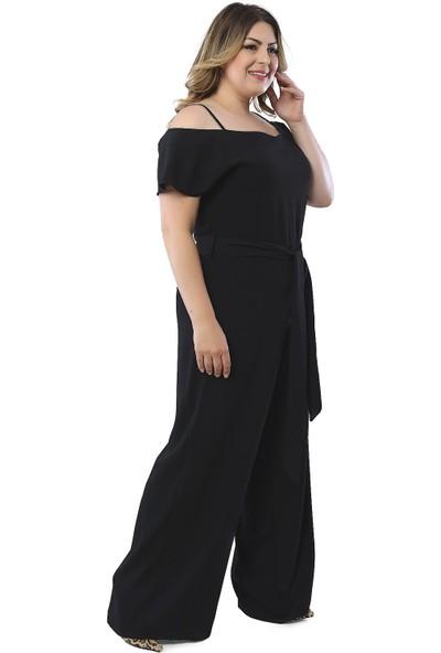 Hanezza Kadın Omuz Detaylı Krep Tulum P25600