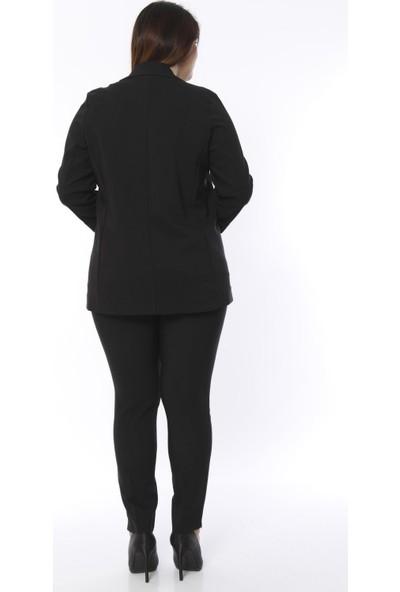 Hanezza Kadın Cep Detaylı Blazer Ceket P5095