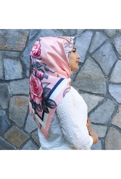 Renkli Butik Desenli Tafta Kadın Eşarp