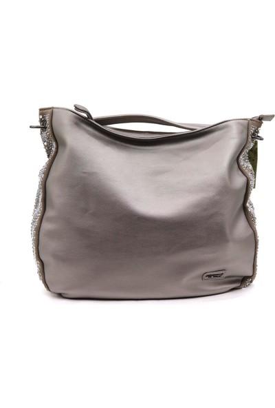 Ccs Bronz Renk Soft Kadın El Çantası