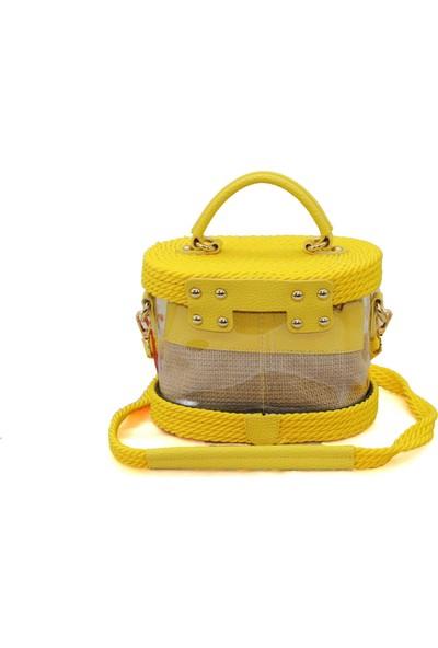 Dsn Sarı Şeffaf Kadın Çapraz Askılı Çanta