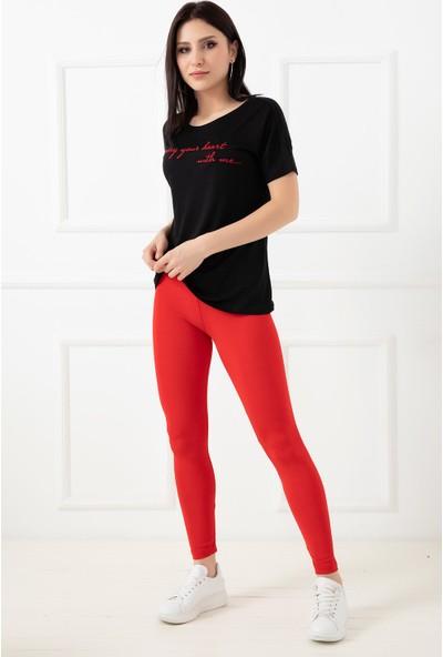 Hostess 352820-5 Bayan Sporcu Taytı Kırmızı