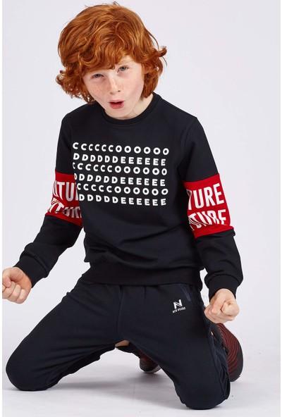 Tommy Life Future Kol Baskılı Lacivert Erkek Çocuk Sweatshirt