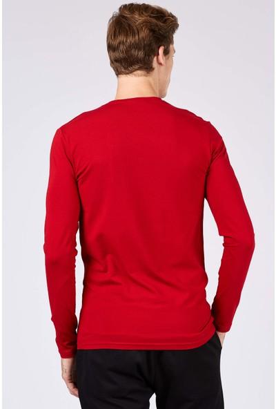 Tommy Life Black Yazı Detaylı Kırmızı Erkek Sweatshirt