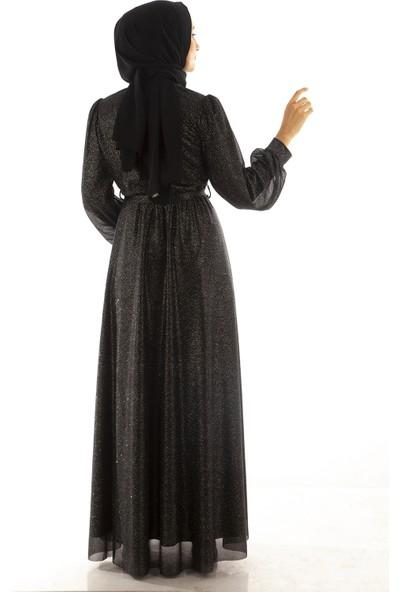 Arda New Line Kadın Siyah-Gümüs Abiye 1024212.257