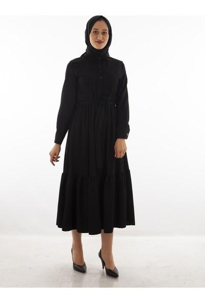Arda New Line Kadın Siyah Elbise 5305194.01